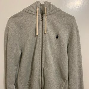 Polo Ralph Lauren Zip Up Hoodie Gray Medium